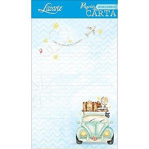 Kit papel de carta PEC 014 - 5 folhas - Viagem Fusca - Litoarte