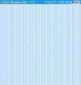 Papel Azul listrado branco face única SBB-021 - Litoarte