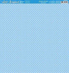 Papel Marroquino fundo azul face única SBB-026 - Litoarte