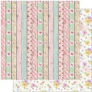 Papel SD-1081 Flores, Madeira, Textura dupla-face  - Litoarte