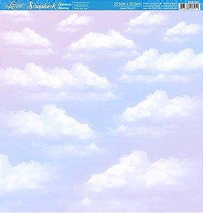 Papel SBB-029 Céu com nuvens - face única - Litoarte