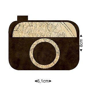 Aplique em MDF Máquina fotográfica APM8-1095 - Litoarte