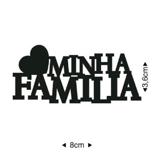 Aplique em MDF Minha família APM8-865 - Litoarte