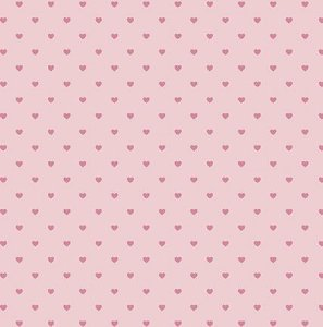 Papel SH30-050 rosa com corações com foil - Litoarte
