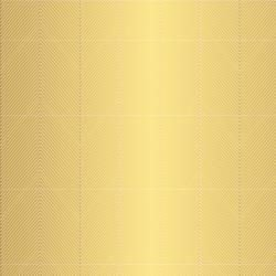 Papel Scrapbook - Cottage Living - Gold Chevron   - Pebbles