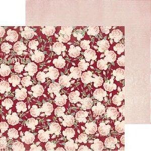 Papel Scrapbook 30x30 - Madeleine Roses   - Bo Bunny