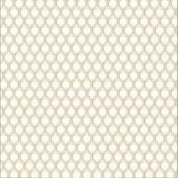 Papel Scrapbook - Cottage Living - Gold Foil Honeycomb   - Pebbles