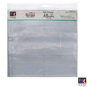 Refil plástico para álbum grande TEC - Design A - Toke e Crie