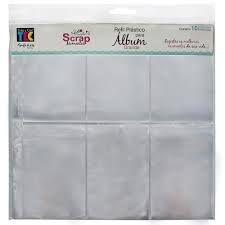 Refil plástico para álbum grande TEC - Design C - Toke e Crie