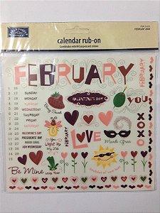 Cartela de rub-ons - FEBRUARY - Karen Foster