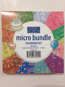 Kit de papéis e adesivos pequeno - Calendar Kit - Karen Foster