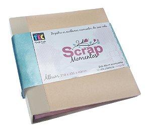 Álbum de scrapbook Scrap Momentos - Bege e Kraft - Toke e Crie
