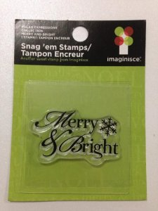 Carimbo de silicone Merry & Bright - Imaginisce