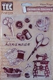 Cartela de Carimbos de silicone II - Coleção Vintage - Costura