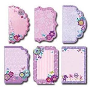 Kit Recortes Criativos com glitter Flores - Toke e Crie