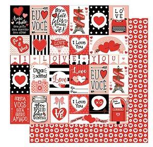 Papel Amor - Love vermelho dupla-face - Litoarte