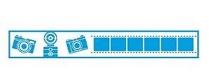 Stencil STB-046 - Máquina fotográfica e filme - Litoarte