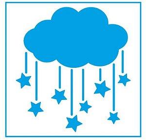 Stencil STX-354 - Nuvem com estrelas - Litoarte