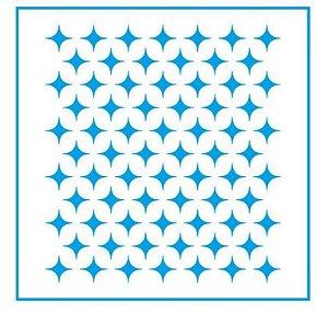 Stencil STX-374 - Estampa Brilhos - Litoarte