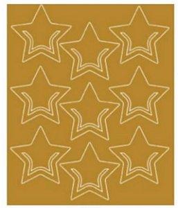 Apliques clips em folha laminada Estrela - Litoarte