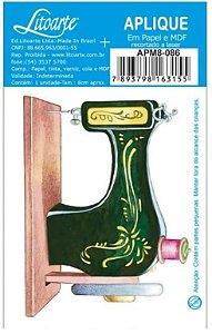 Aplique em MDF Máquina de costura APM8-086 - Litoarte