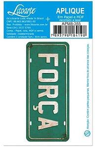 Aplique em MDF Força -  APM8-355 - Litoarte