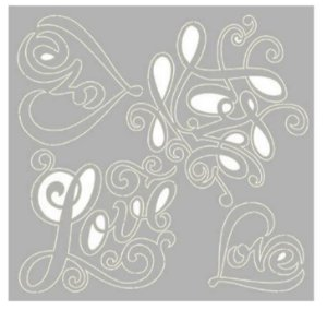 Cartela chipboard Love - Amor - SCEP-19 - Litoarte