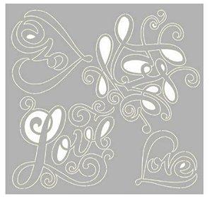 Cartela chipboard Love - Amor - SCEP-19 - Litoarte