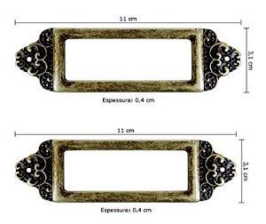 Porta etiqueta em metal Zamac com 2 peças -LAM-3001 - Litoarte