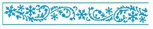 Stencil STBN-002 - Natal - Flocos e arabescos - Litoarte