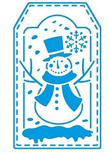 Stencil STANX-002 - Natal - Boneco de neve - Litoarte