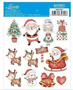Botões MDF e Papel - Natal - Litoarte