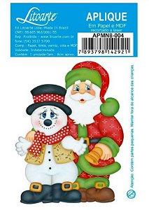 Aplique em MDF Natal - Noel e boneco - APMN8-004 - Litoarte