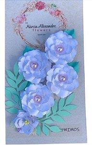 Flores artesanais - Camily - Frapê de coco - Márcia Alexandre