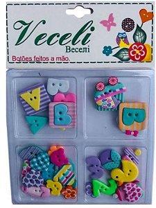 Botões Baby Girl - Bebê Menina - Veceli
