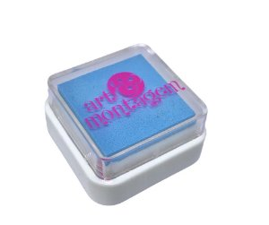 Almofada mini carimbeira Azul Bebê INK002-12 - Art Montagem