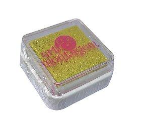 Almofada mini carimbeira Amarelo Perolada INK004-1 - Art Montagem