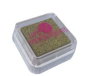 Almofada mini carimbeira Dourada metálica INK003-1 - Art Montagem