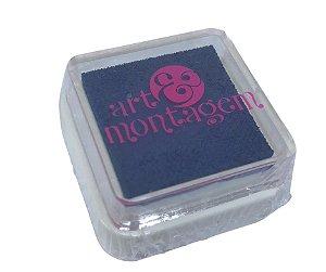 Almofada mini carimbeira Azul marinho INK002-15 - Art Montagem