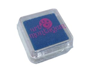 Almofada mini carimbeira Azul perolada INK004-4 - Art Montagem
