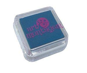 Almofada mini carimbeira Azul jeans INK002-13 - Art Montagem