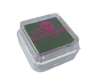 Almofada mini carimbeira Verde musgo INK004-18 - Art Montagem