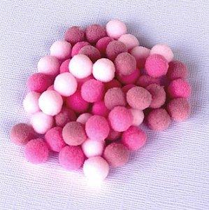 Kit mini pompom Rosa - Importado