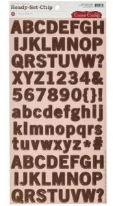 Adesivo em Chipboard 15x30 Alfabeto Iron Port - Cosmo Cricket