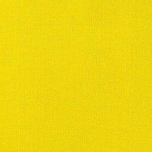 Cardstock - Papel de Scrapbook 30,5x30,5 cm -Amarelo - American Crafts