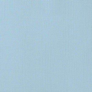 Cardstock - Papel de Scrapbook 30,5x30,5 cm - Azul bebê - American Crafts