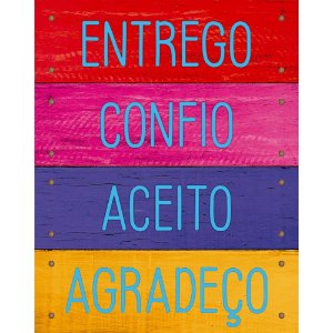 Placa decorativa em MDF - Entrego,confio - DHPM-488 - Litoarte