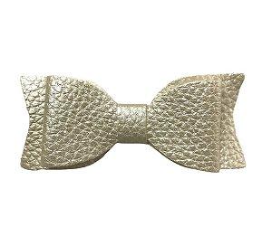 Aplique Laço de couro sintético Branco - Art e Montagem