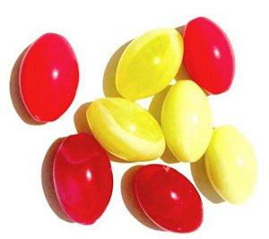 Kit resinas oval, 8 unidades, amarelo e rosa - Importado