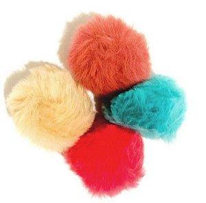 Kit 04 pompom pelo alto, 3,5 cm, colorido  - Importado